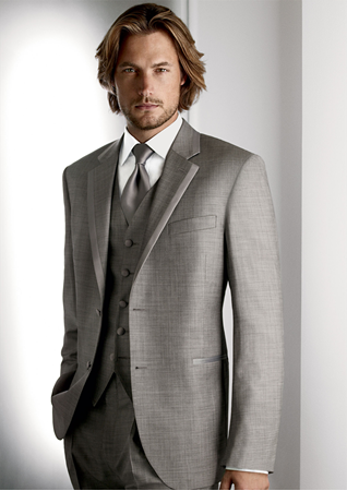 ab5384eb18fbc Calvin Klein - Legends. Grey - Super 100 s - 2 button notch lapel